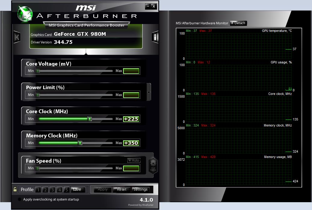 Clevo P750ZM OC Test Setup - Clevo P750ZM: GTX 980M