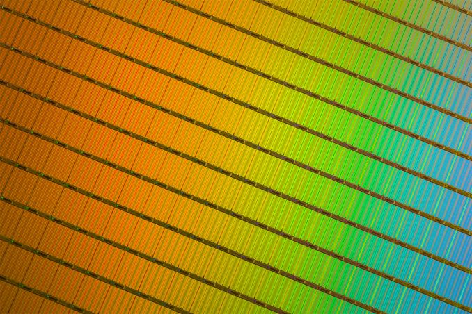 3D NAND Wafer Close Up 575px Estimating Intel Micron 32 layer 3D NAND Die Size