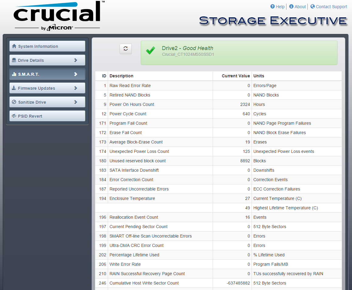 Crucial Storage Executive/SSD Driver for Windows 10