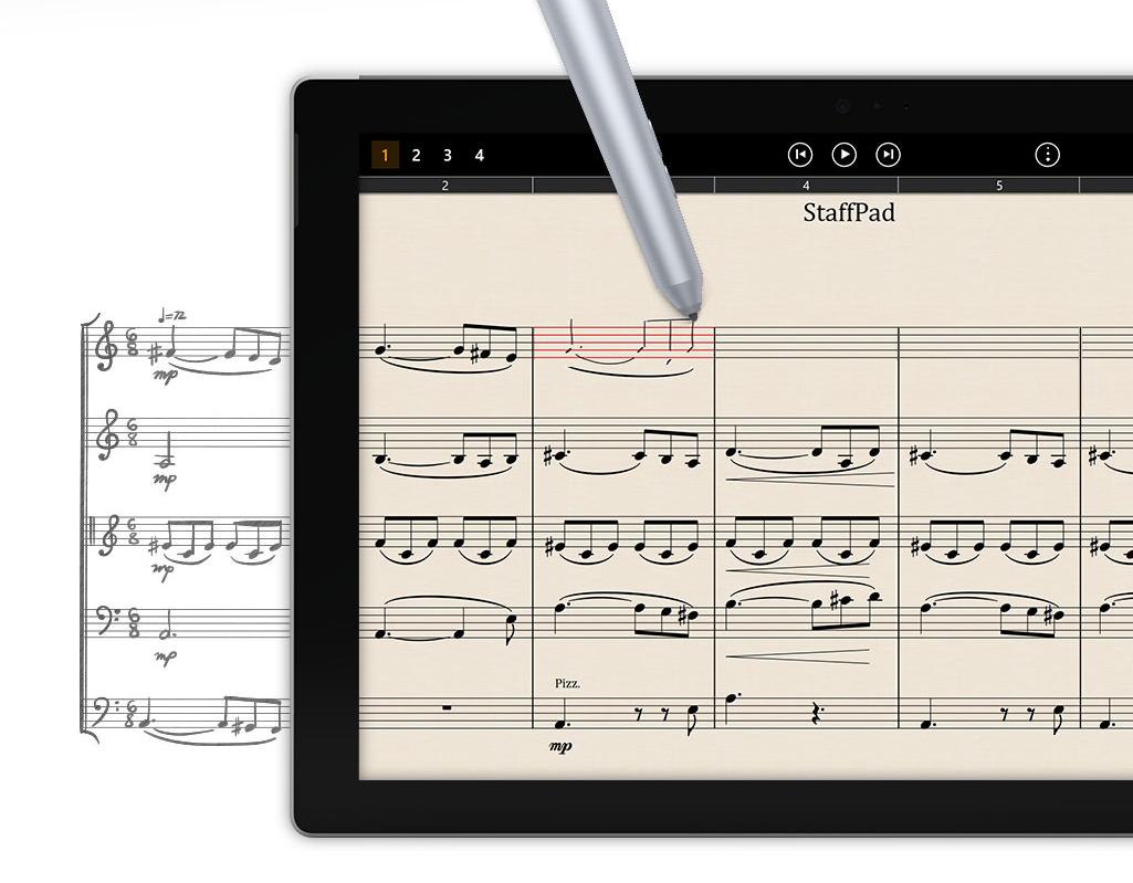 Staffpad - music notation software