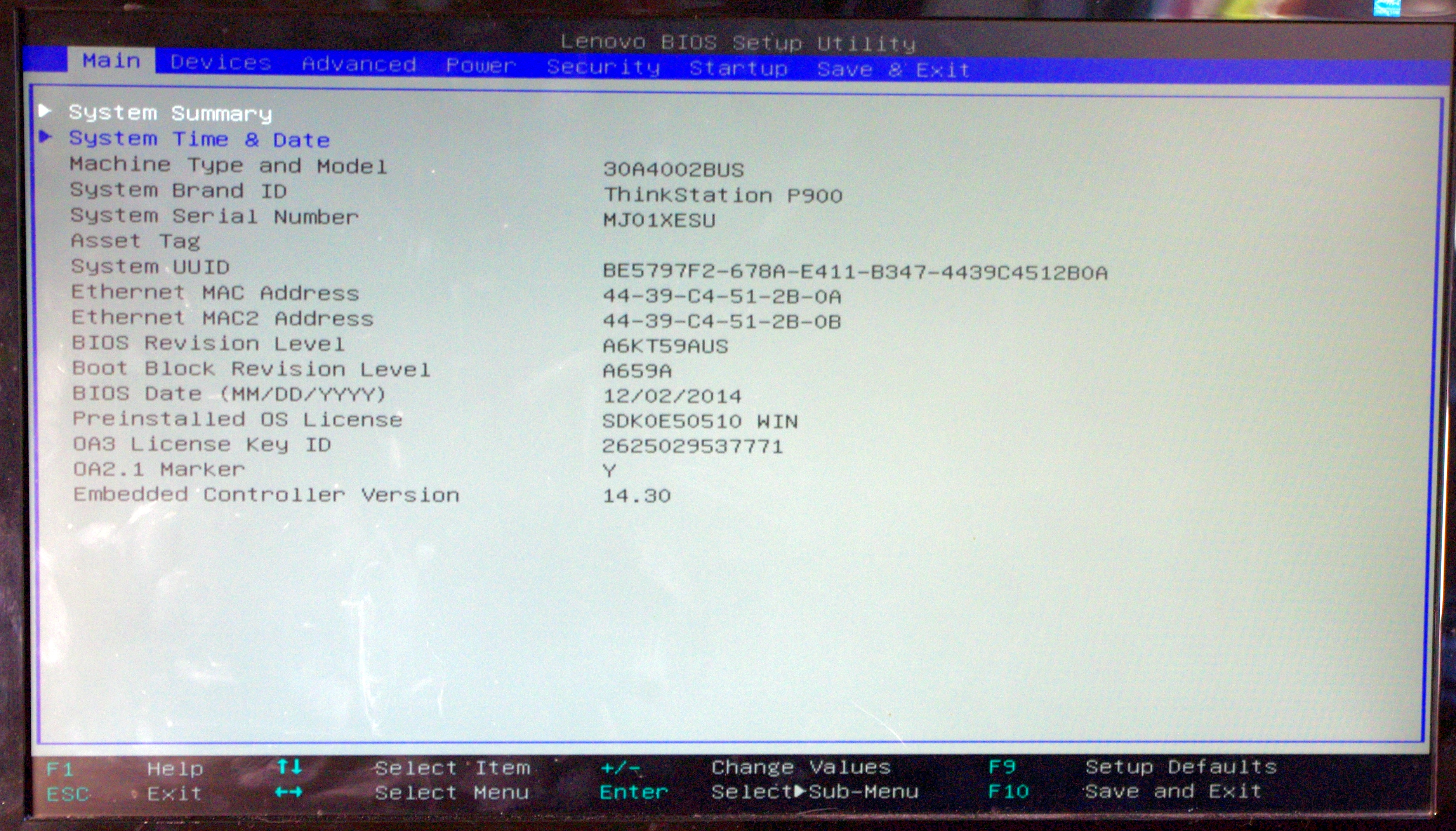 Bios And Software The Lenovo Thinkstation P900