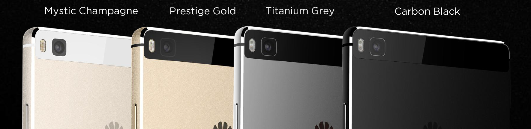 huawei p8 colors. the p8 is available in two variants at each price point: 499\u20ac for either 16gb mystic champagne or prestige gold versions, 599\u20ac 64gb titanium huawei colors