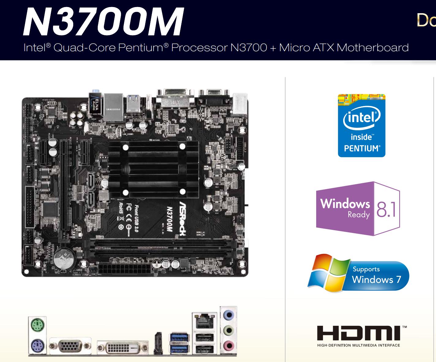 ASRock N3700M Intel Graphics Mac