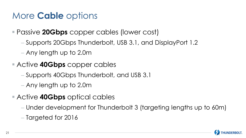 Intel Announces Thunderbolt 3 - Thunderbolt Meets USB (At Last)