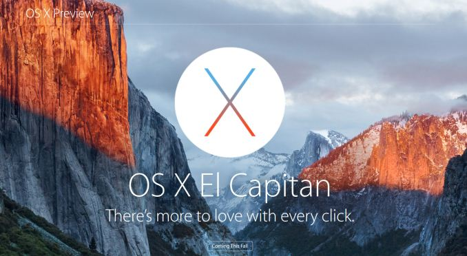 First Look At Apple's OS X El Capitan