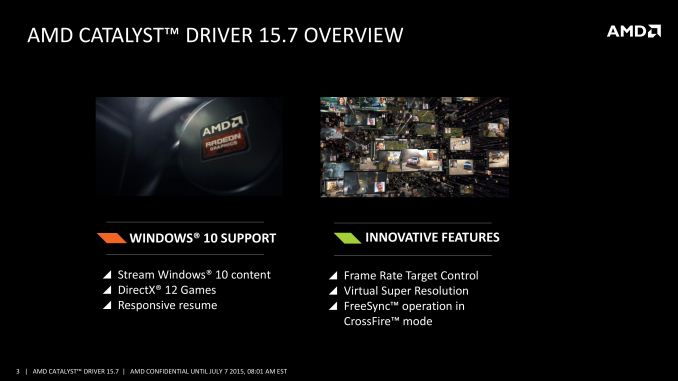 AMD Releases Catalyst 15 7 WHQL Drivers: Crossfire Freesync, Win10