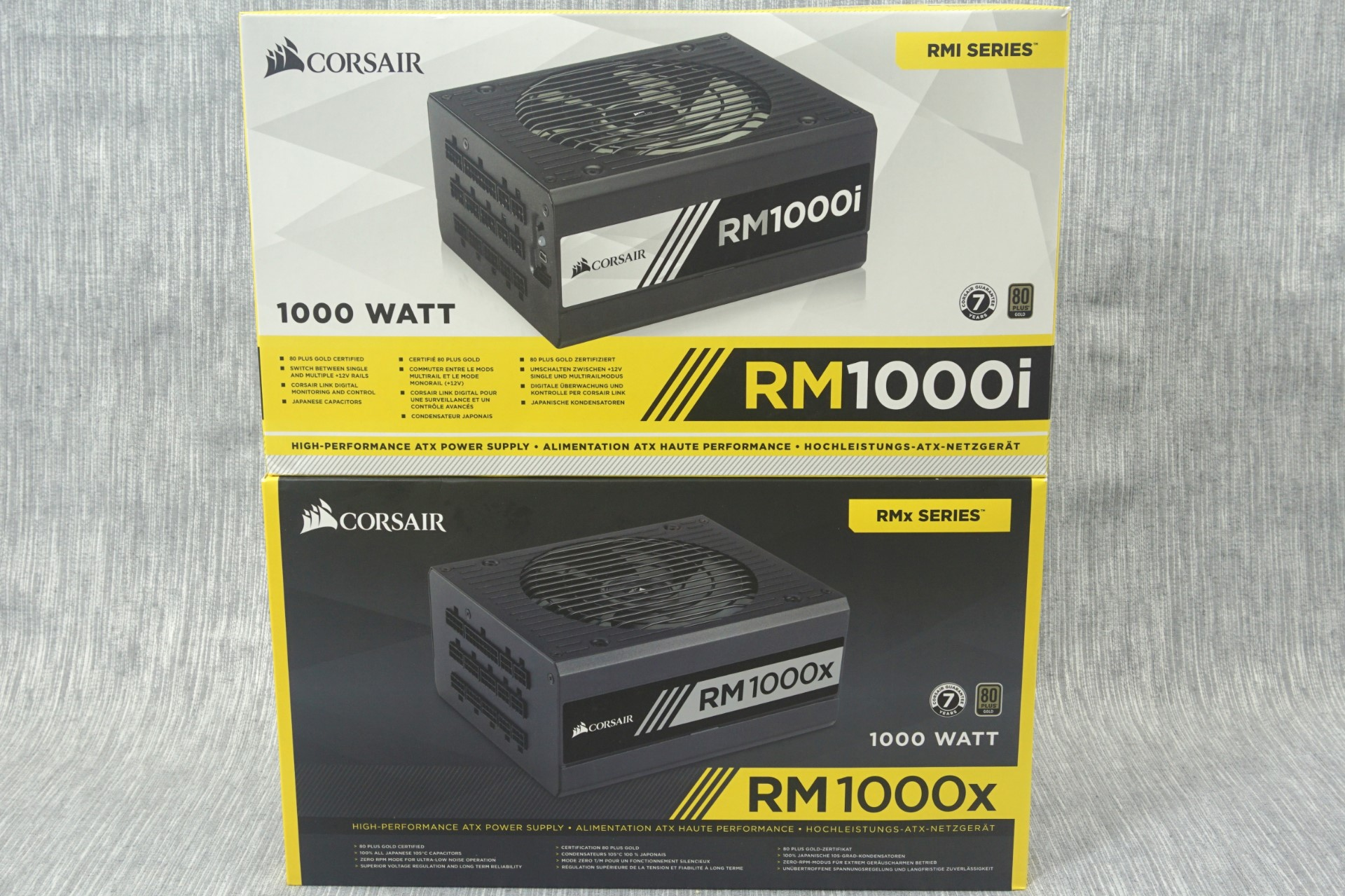 The Corsair Rm1000x And Rm1000i 1000w Power Supply Review Voltage Regulator Is Essentially Same Packaging Bundle
