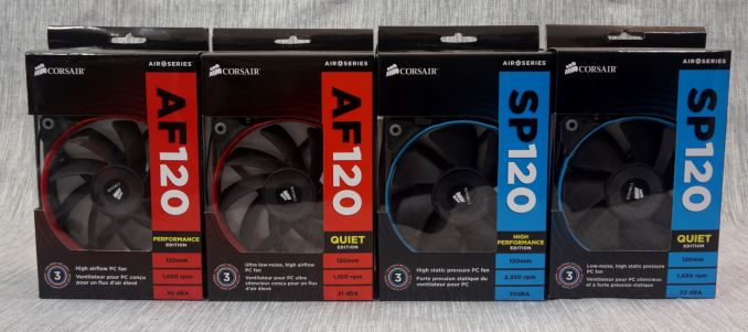 The Corsair SP (Static Pressure), AF (High Airflow) 120/140mm Fan
