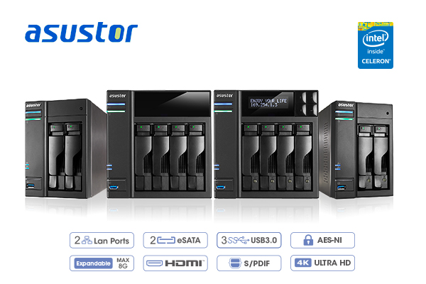 Asustor AS6204T Braswell NAS Review