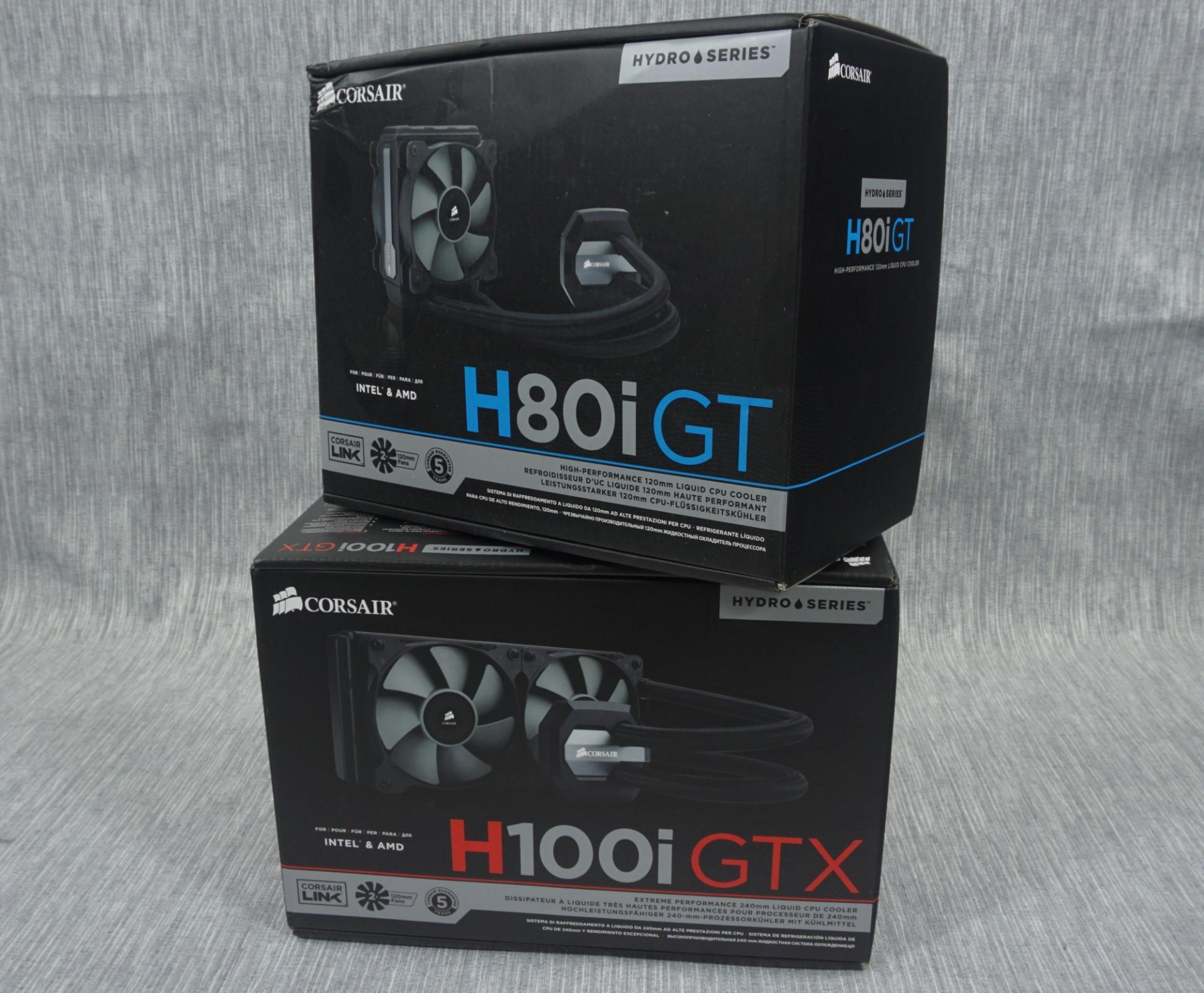 The Corsair H80i GT and H100i GTX AIO Coolers Review