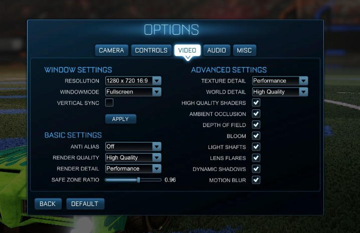 Squishy Muffinz Camera Settings Rocket League : The AMD A8-7670K APU Review: Aiming for Rocket League NUTesla The Informant