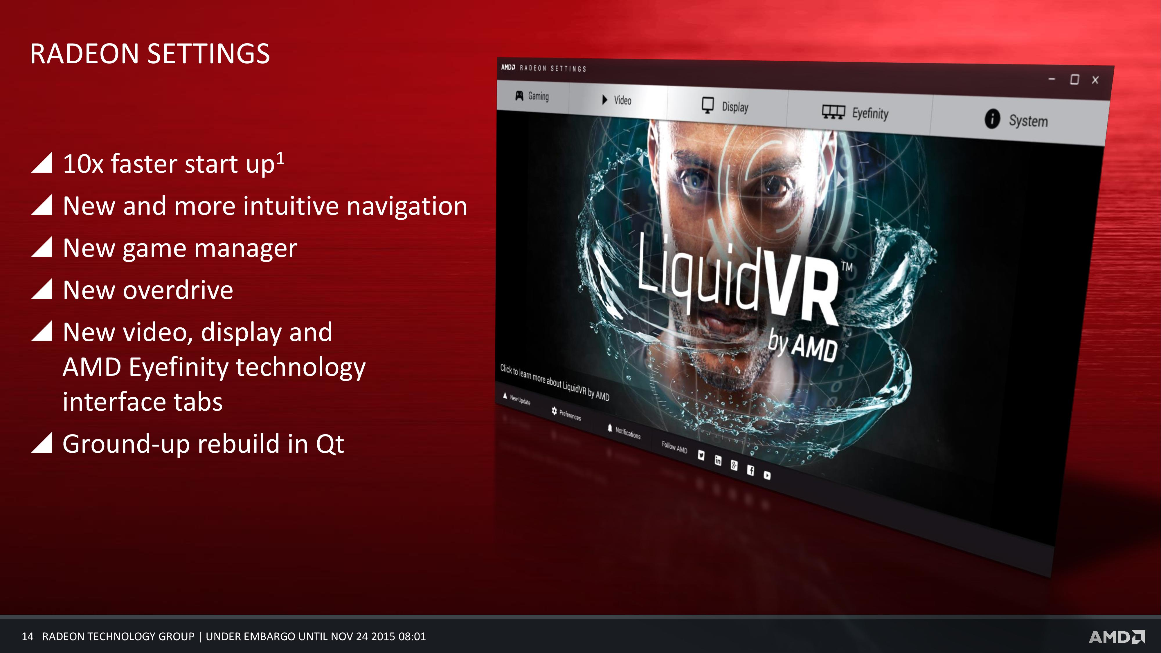 Radeon Settings: The New Face of AMD's Drivers - AMD's