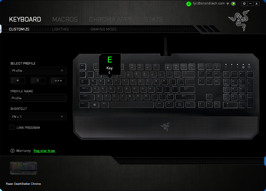 Quality Testing & The Software - The Razer DeathStalker