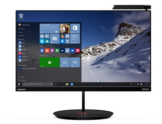 Lenovo Launches ThinkVision Displays With USB-C Docking At CES
