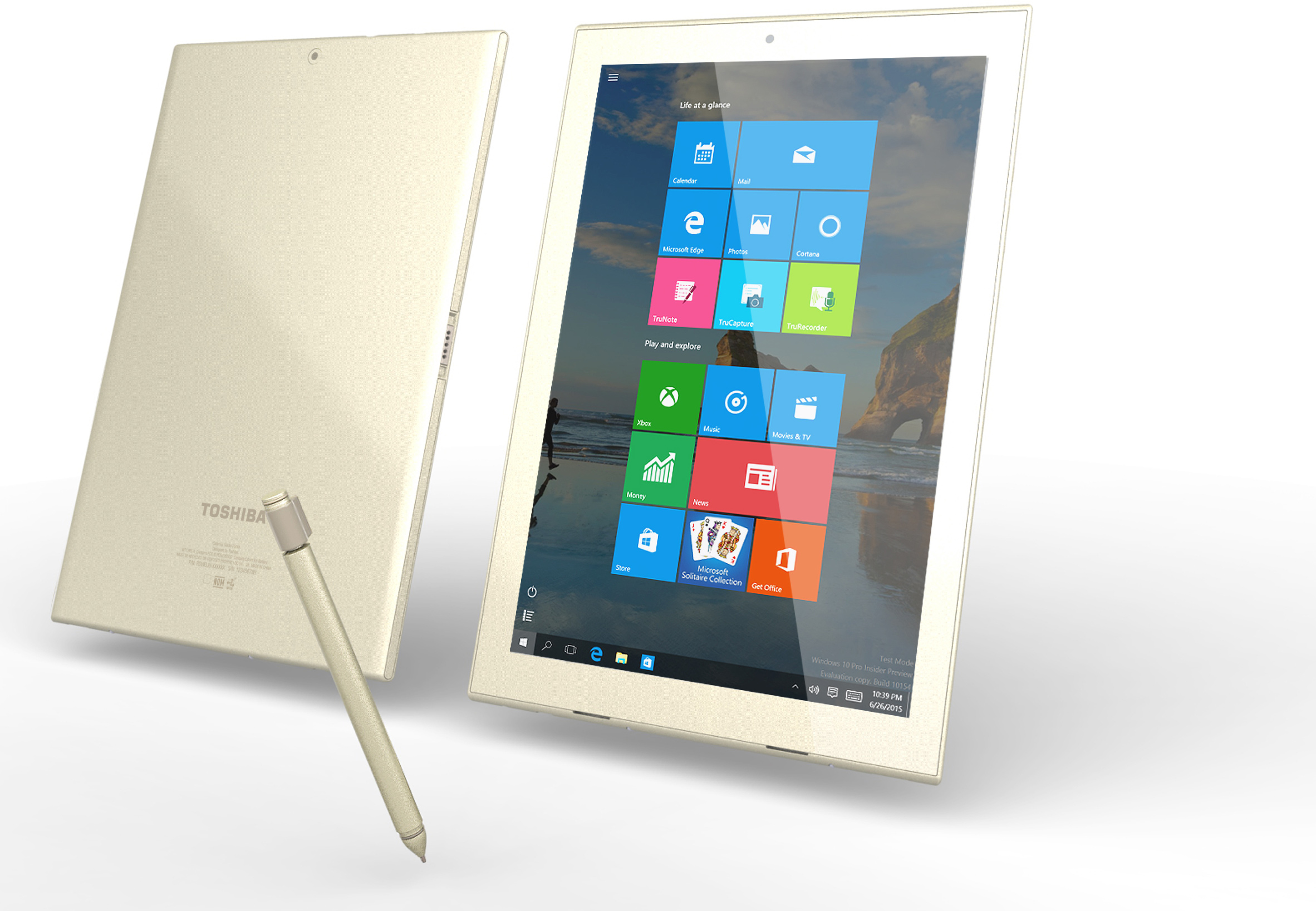 how to open a toshiba tablet