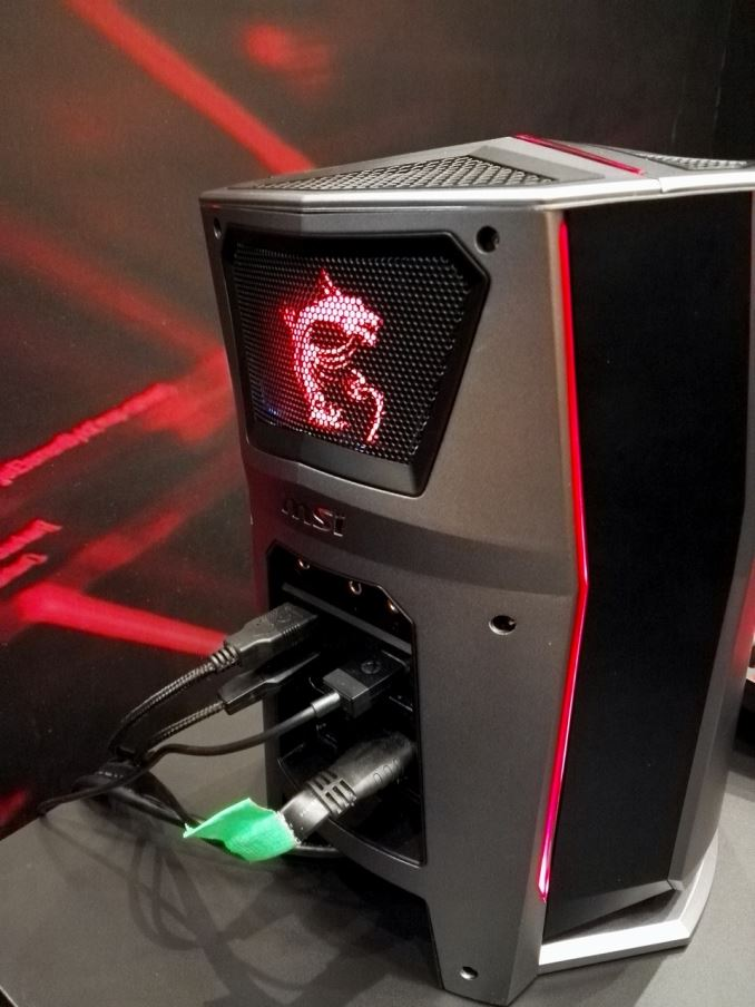 ces 2016 msi s vortex gaming pc on display and it looks almost like a mac pro. Black Bedroom Furniture Sets. Home Design Ideas
