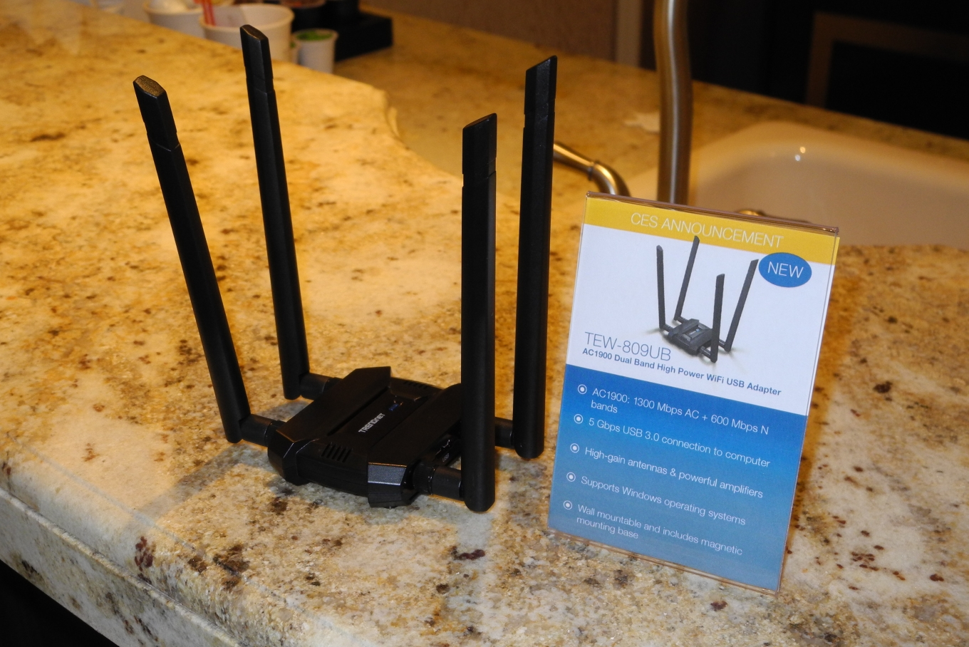 TRENDnet Announces AC2600 Router and AC1900 USB 3 0 WLAN Adapter at CES