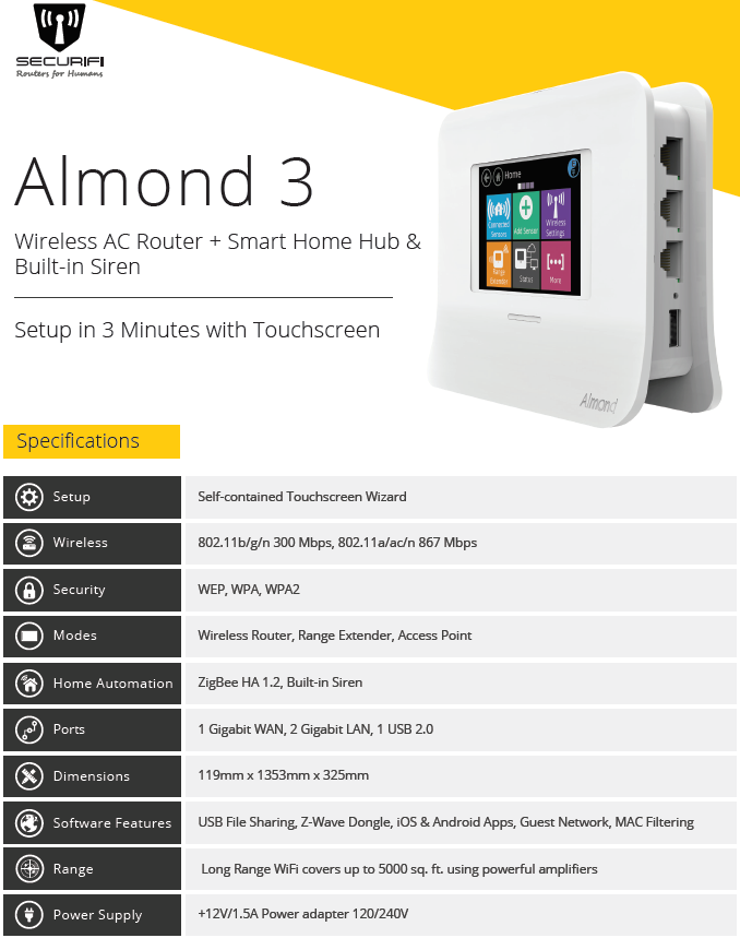 Securifi Updates Smart Home Hub Lineup with New Almond 3