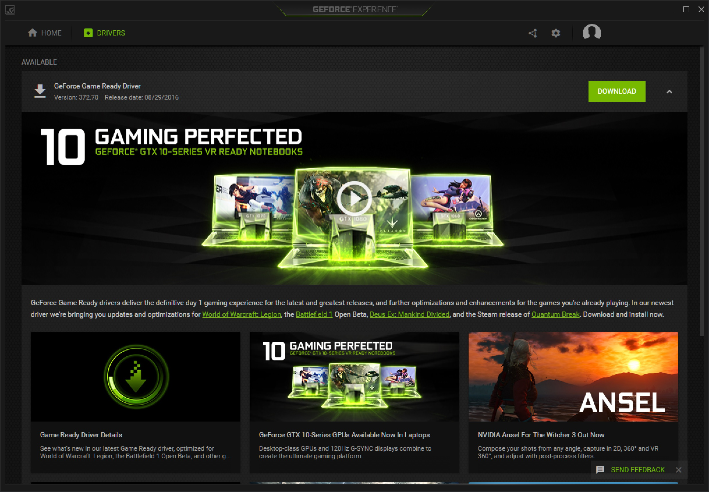 NVIDIA Updates to GeForce Expereince 3 0 - New UI and Features | NeoGAF