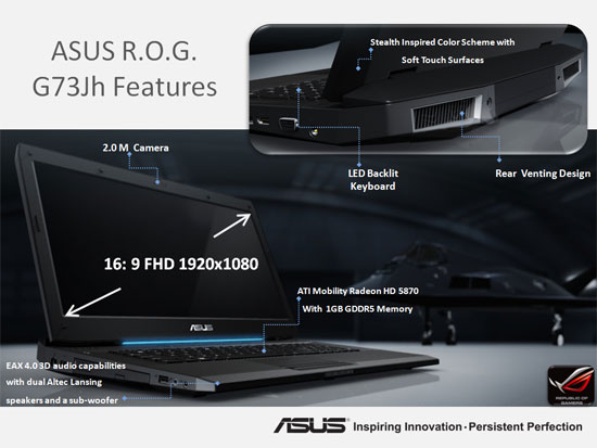 Asus G73JH OS and Drivers