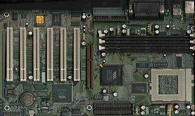 The first with 6 PCI slots on a Super7 board