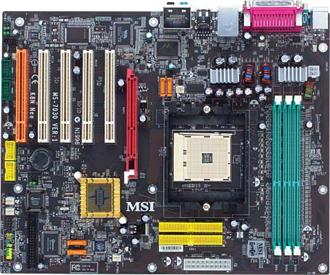 MSI K8N Neo Platinum: Features and Layout - Socket 754