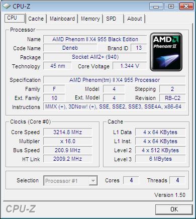 Amd S Phenom Ii X4 955 Black Edition
