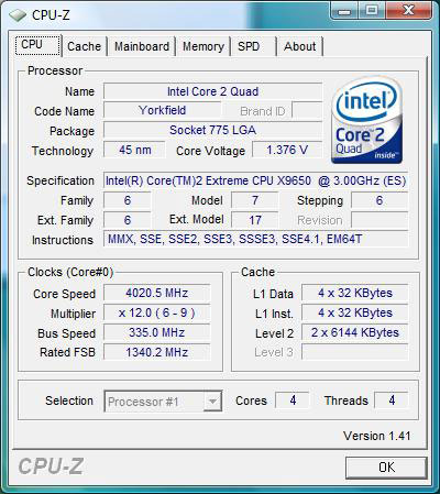 Overclock Me Baby - Intel Core 2 Extreme QX9650 - Penryn