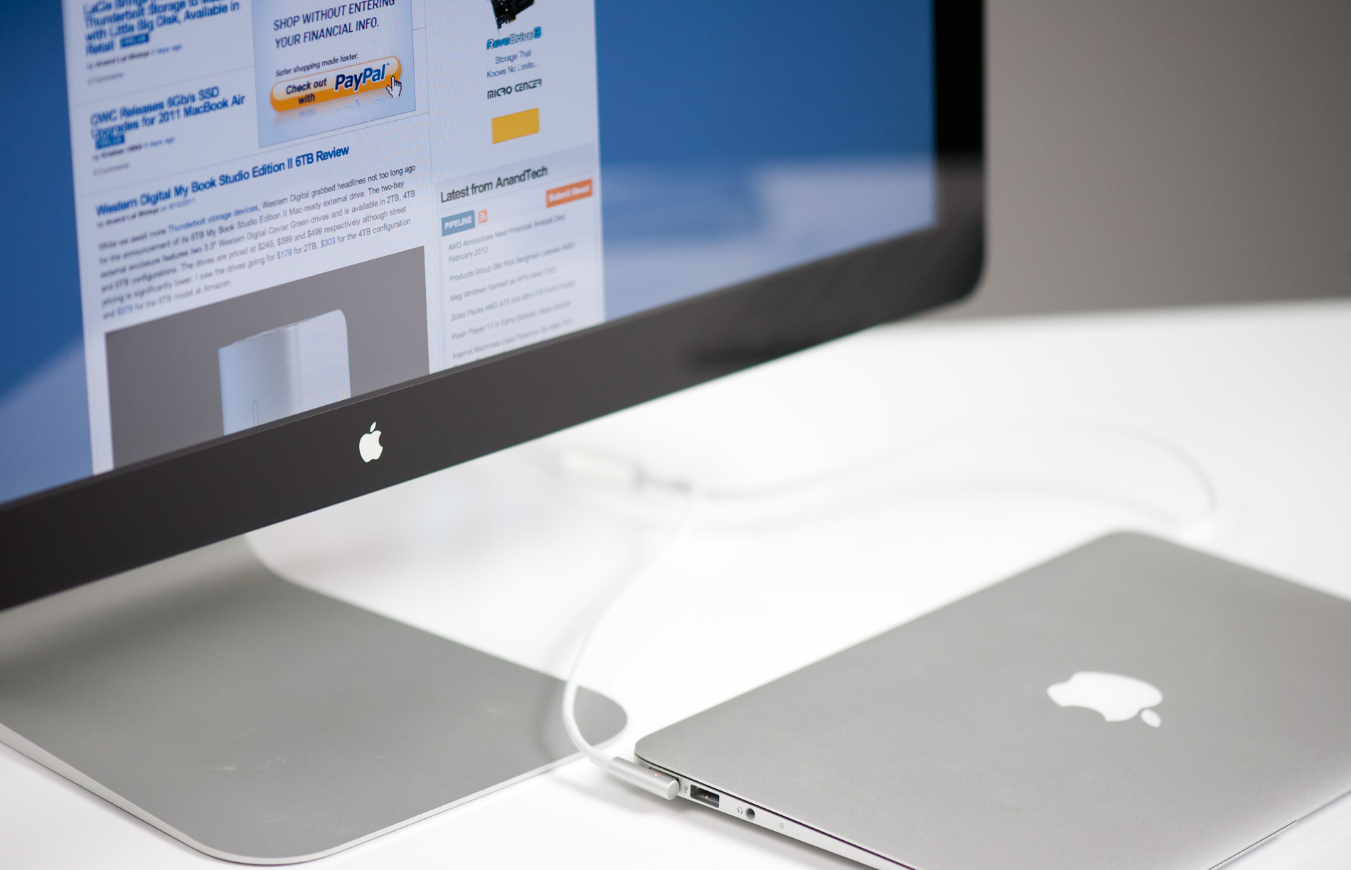 Connect pc to apple thunderbolt display