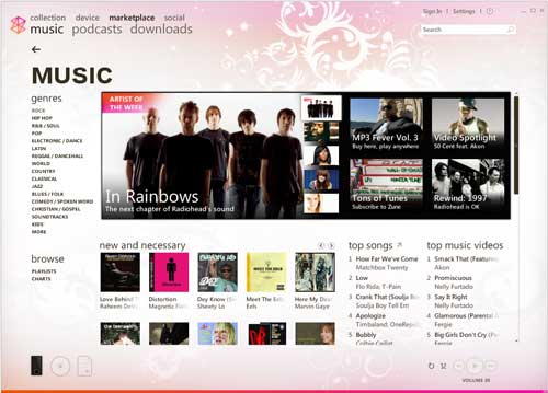 Software & Music Stores - iPod vs  Zune: January 2008 High