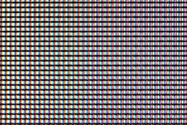 An example of a display with RGB stripe, 468 PPI.