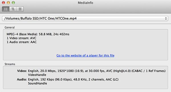 MediaInfoHTCOne1080p