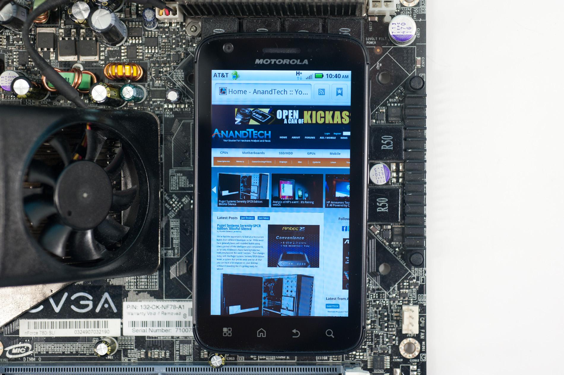 The qHD Screen: A PenTile LCD? - The Motorola Atrix 4G Preview