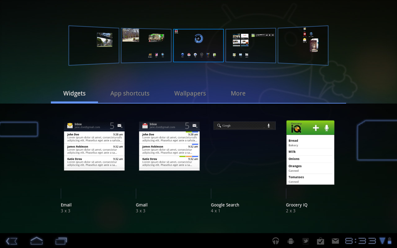 Multitasking, Notifications and App Launcher - Motorola Xoom