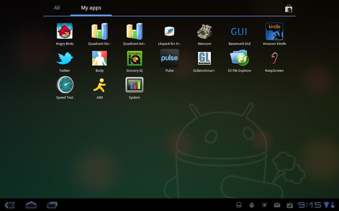 Multitasking, Notifications and App Launcher - Motorola Xoom