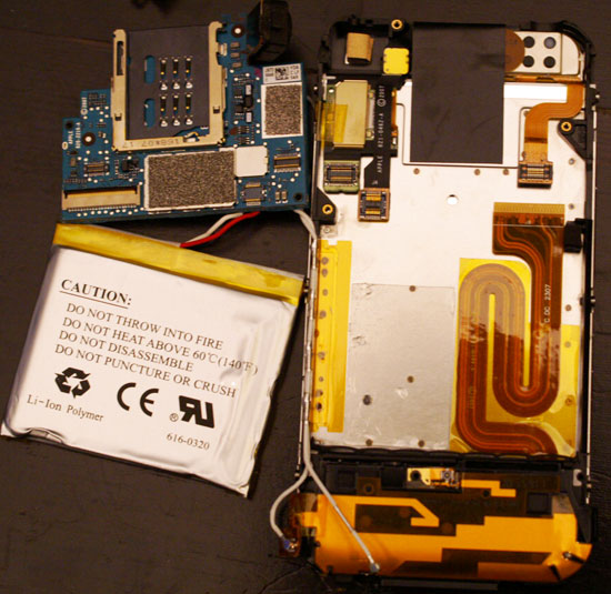 The iPhone's Motherboard(s) - Apple's iPhone Dissected: We did it