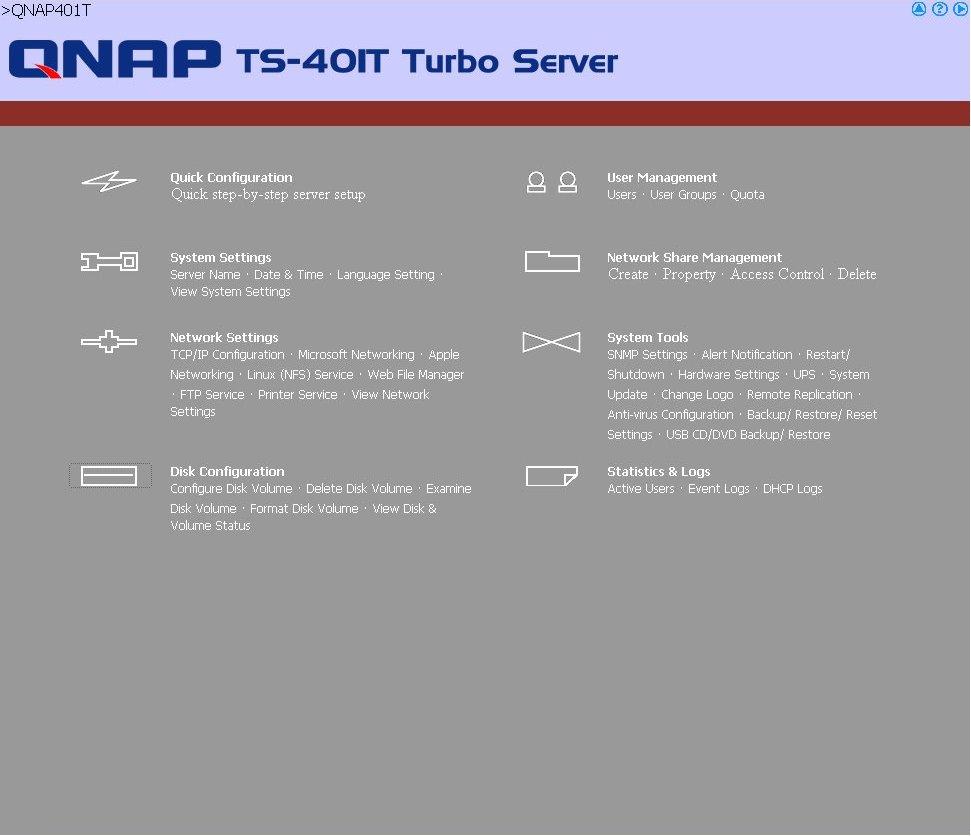 QNAP TS-401T - SMB NAS Roundup