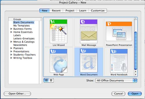 Microsoft Office - A Month with a Mac: A Die-Hard PC User's Perspective