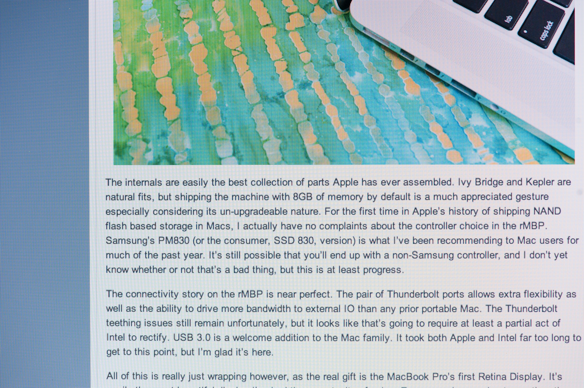 The Display - The 2012 MacBook Air (11 & 13-inch) Review