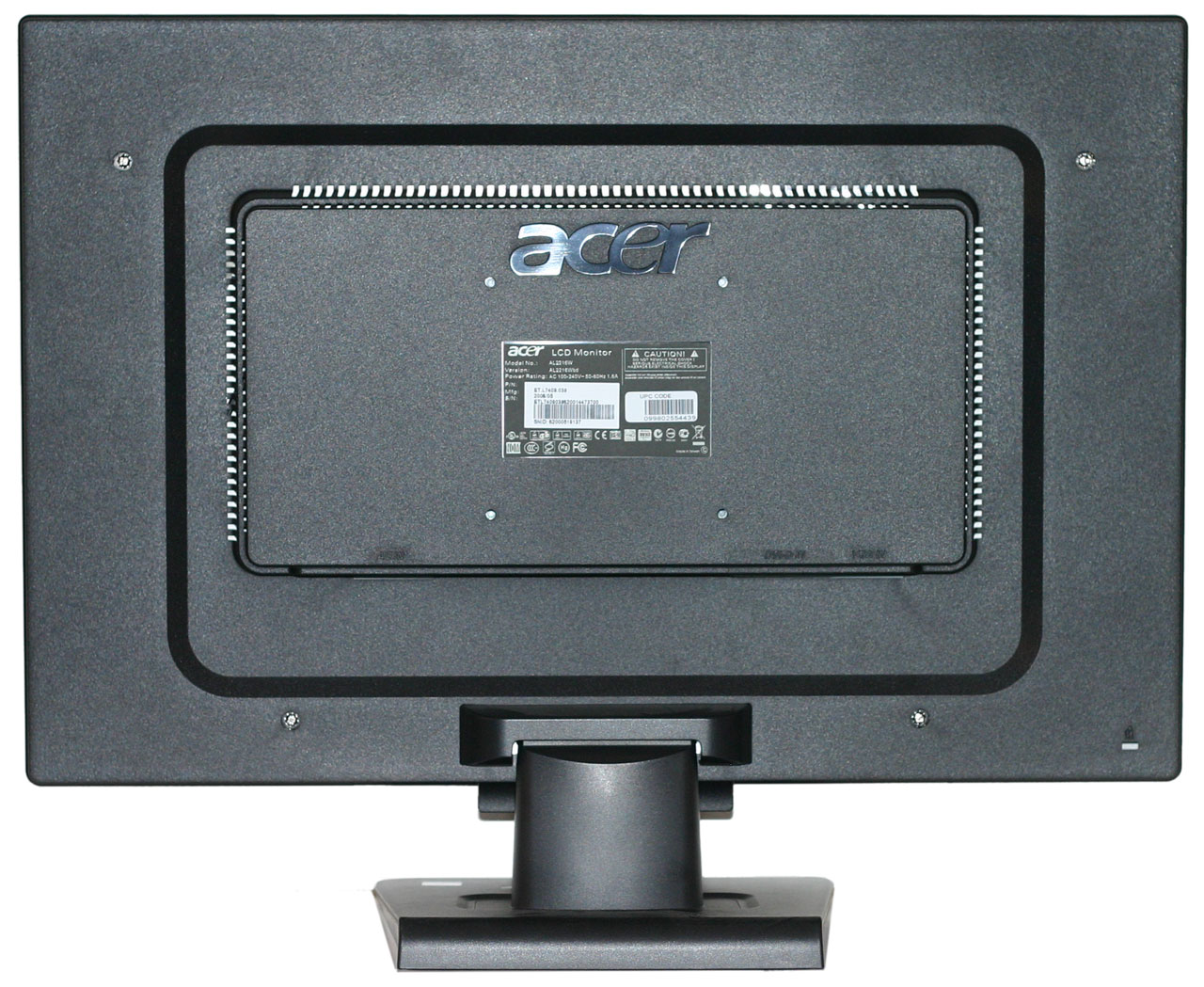 Back To Back Monitor : Acer al w driver
