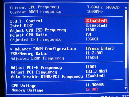 Interesting and Unusual BIOS Settings - MSI X48 Platinum