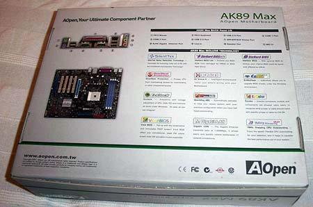 Aopen AK89 max Vista