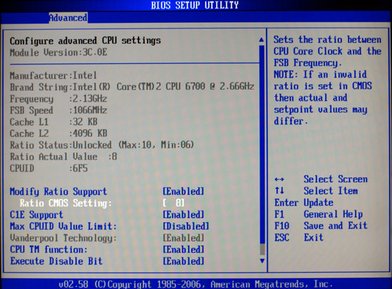 E6700 & E6600 – 4MB Cache - ASUS P5B: New BIOS Adds