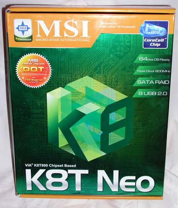MSI K8T Neo: Packaging & Board Layout - Athlon64