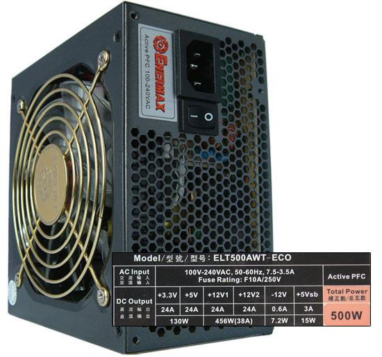 Enermax Liberty Eco ELT500AWT-ECO - Overview - 500W to 550W