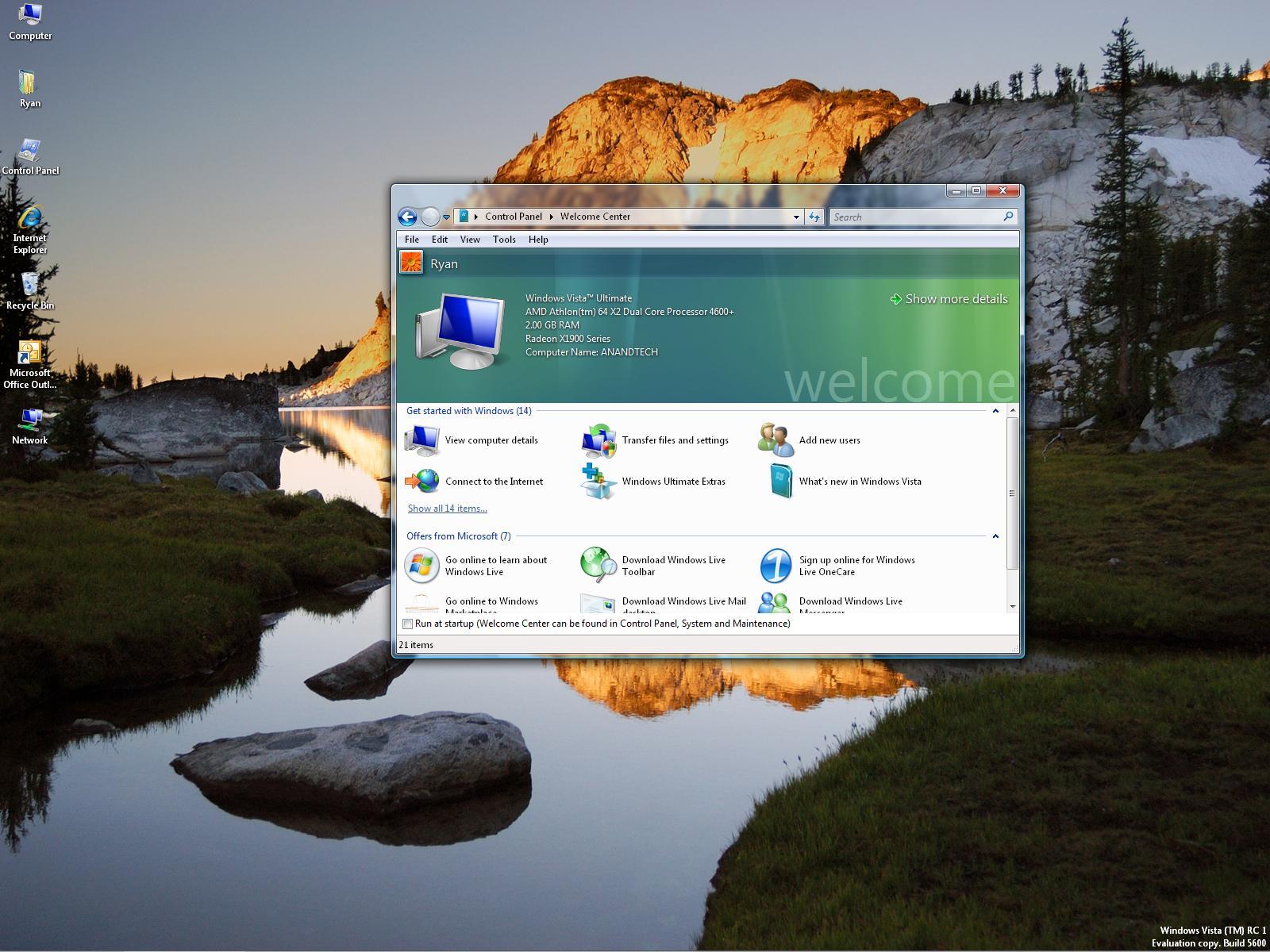 Longhorn Reviews >> Windows Vista Update: RC1/5728 Preview
