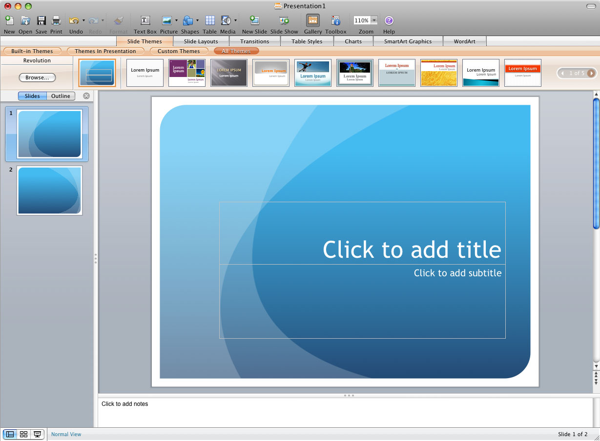 Excel powerpoint the other office microsoft office for Power point templates for mac