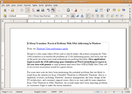openoffice for windows vista