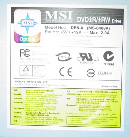 MSI DR8 A DRIVERS FOR WINDOWS XP