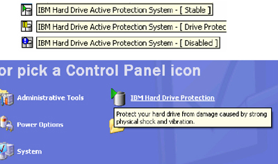 IBM Hard Drive Active Protection System - IBM ThinkVantage